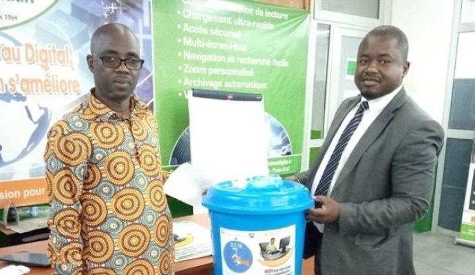 Lutte contre le Coronavirus : Le Repprelci offre des kits de lavage des mains à la Rédaction web de Fraternité Matin