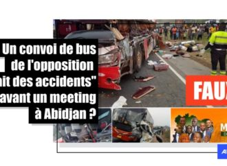 Non, il n'y a pas eu d'accident de bus transportant des partisans de l'opposition à un meeting à Abidjan