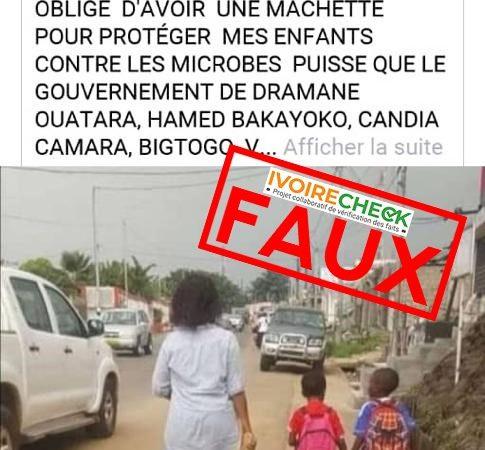 Côte d'Ivoire : Faux, cette image ne concerne pas la Côte d'Ivoire, mais le Gabon