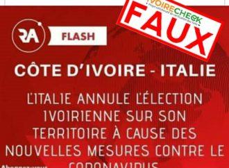 Faux, l'élection aura bel et bien lieu en Italie