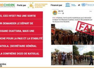 Faux, ceci n'est pas une manifestation pour faire partir Alassane Ouattara